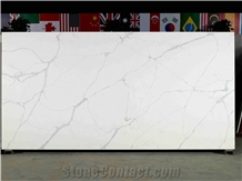 Calacatta Dorada White Quartz Slabs & Tiles