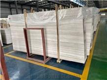 China White Wood Grain Vein Serpeggiante Light Marble Slabs