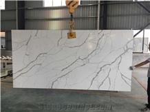 Statuario Venato White Quartz Slabs for Kitchentop