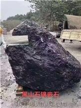 China Blackrock Granite Split Waterjet Landscaping Stone