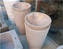 China G682 Yellow Granite Polished Stone Sink & Wash Basin
