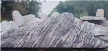 China Juparana Grey Granite Split Waterjet Landscaping Stone