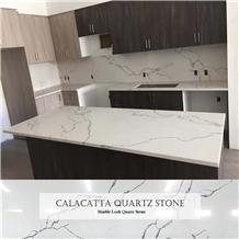 Artificial Stone Calacatta White Quartz Countertop
