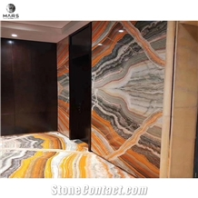 Natural Stone Big Slab Colorful Onyx Floor Tile Slab