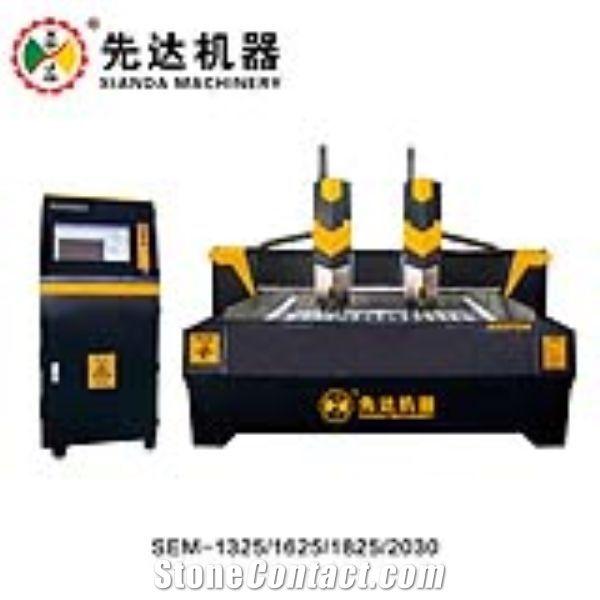 THREE AXIS CNC STONE ENGRAVING MACHINE 1 HEAD 2 HEAD