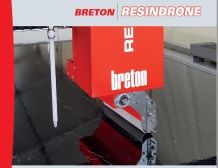 Breton ResinDrone Robot-Automatic Resin Treatment of Slabs