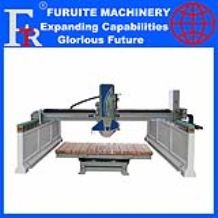 Frt-450 Infrared Bridge Saw Stone Cutting Machine for marble and granite with 360 degree workbench rotating