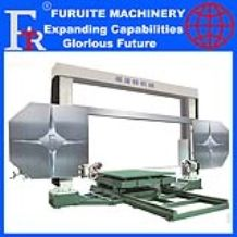 PLC CNC operation system full automatic 360 degree rotating worktable single diamond wire saw stone block cutter machine