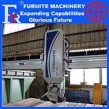 FRT-350 steel frame 45° angle cutting machine infrared laser bridge saw marble granite board sheet slab full automatic