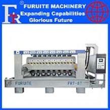 FRT-8T full automatic plc bush hammering machine stone litchi surface polishing grinding industrial equipment factory ex
