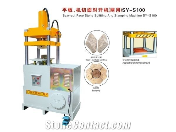 Saw-cut Face Stone Splitting and Stamping Machine