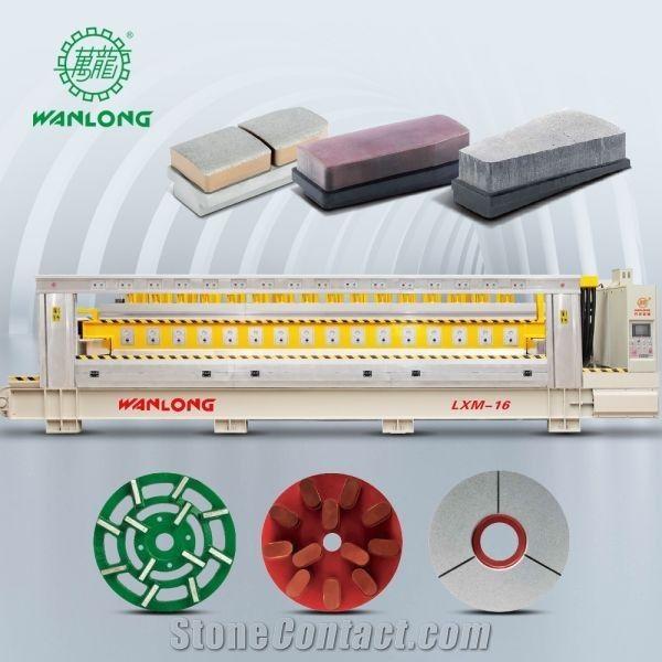 marble granite stone line polisher multi polishing machine