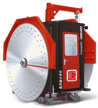 Mining stone block cutting machine