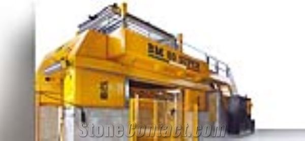 BM 80/100 Super 800 open frame gang saw cut marble slabs