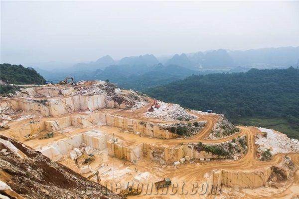 Tuong Phu Opal White, Diamond White Marble Quarry