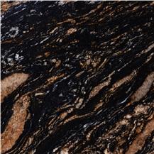 Black Amber Granite