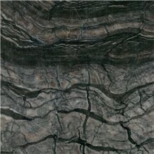 Silver Wave Brown Marble