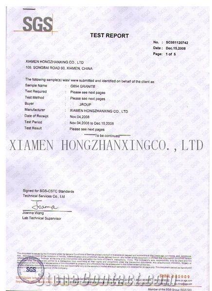 G654 Certificate
