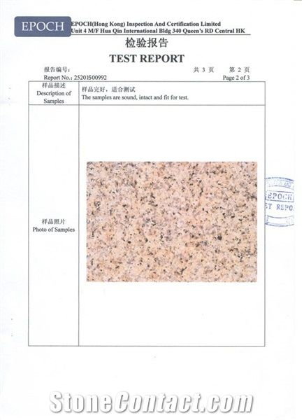 Granite Test Report