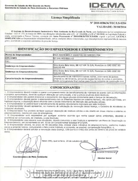 Environmental License