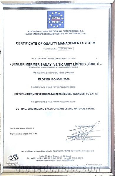 EURO CERTIFICATE OF QUALITY MANAGEMENT SYSTEM