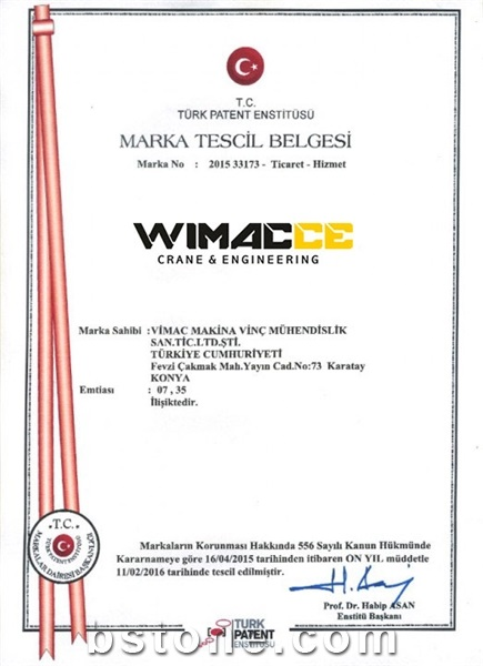 Wimac Trade Mark