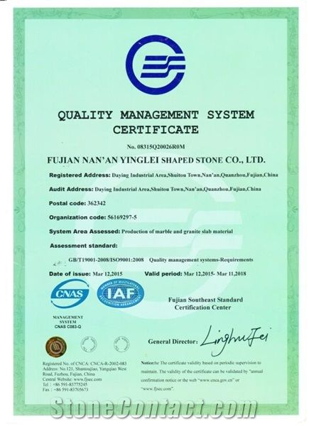 QUALITY MANAGEMENT SYSTEM CERFICATE