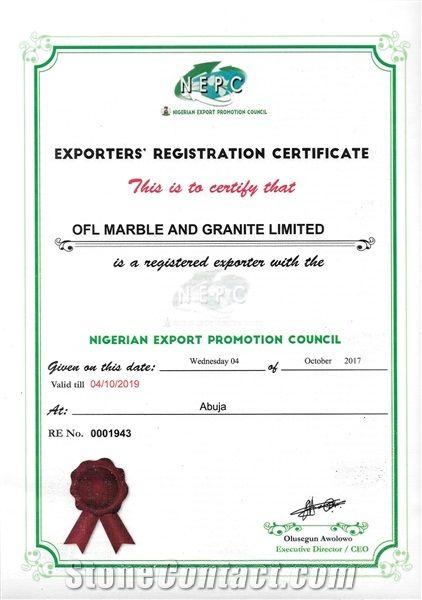 Exporters' Registration Certificate