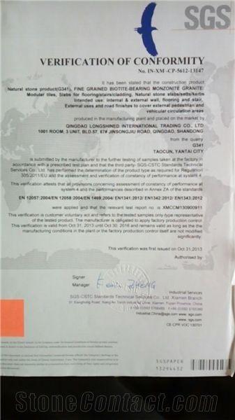 G341 CE certificate